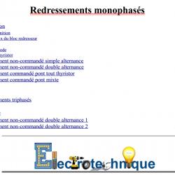 Redressements monophasés